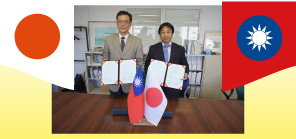 Making the Memorandum of Understanding(MOU)<br>with the Metal Industries Research &#038; Development Centre<br>in Taiwan